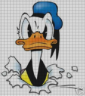 Donald Duck Here I Am Crochet Pattern