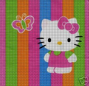 Colorful Hello Kitty Crochet Pattern