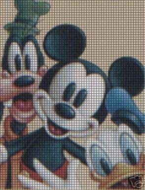 Mickey & Friends Faces Crochet Pattern