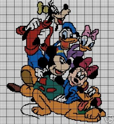 Mickey & The Gang Crochet Pattern