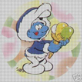 Smurf Ice Cream Crochet Pattern