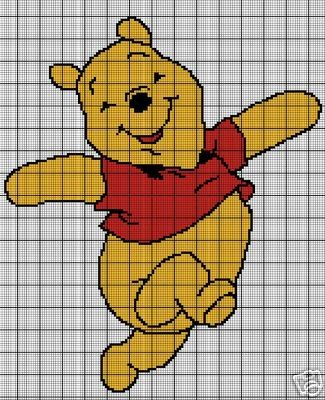 Happy Pooh Bear Crochet Pattern
