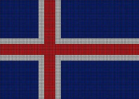 Iceland Flag Crochet Pattern