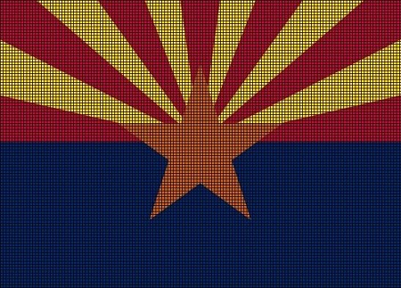 Arizona State Flag Crochet Pattern