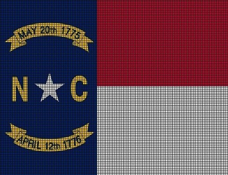 North Carolina State Flag Crochet Pattern
