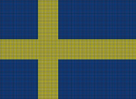 Sweden Flag Crochet Pattern