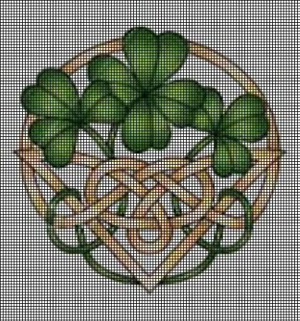 Shamrock Celtic Knot Crochet Pattern