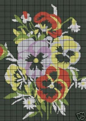 Pansies Crochet Pattern