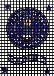USAF Served With Pride Crochet Pattern