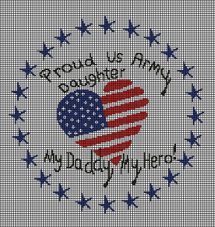 Proud US Army Daughter Crochet Pattern