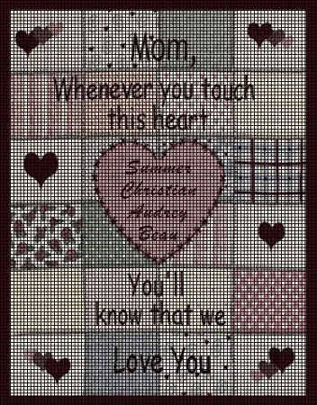 Whenever You Touch This Heart Crochet Pattern