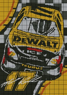 Nascar Kenseth Car Crochet Pattern